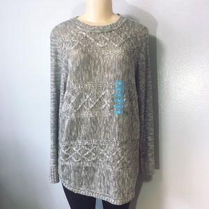 525 America Sweaters - 525 America Gray Crewneck Sweater Size XL